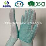De Handschoenen van de Veiligheid van het Werk van de Polyester van de Punten van pvc
