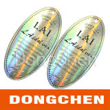 Sticker Van uitstekende kwaliteit van het Hologram van de Laser van de Veiligheid van de Prijs van Competitve de Transparante 3D