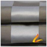 50d 340t & Wind-Resistant открытый Sportswear вниз куртка из тончайшего Клетчатую жаккард 100% полиэстер Pongee ткани (53221)