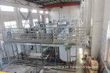 Bouteille de verre automatique de l'embouteillage de boissons de jus de fruits de remplissage de lavage plafonnement de l'unité 3 en 1 la machine