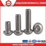 ISO7380ステンレス鋼の十六進ソケットボタンヘッドねじ