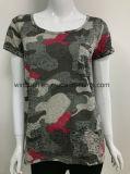 CVC 소모를 가진 여자를 위한 다채로운 t-셔츠