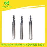 De stevige CNC van het Carbide Types van Snijders van het Malen van het Eind van Werktuigmachines Vlakke