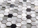 Mosaico de cristal de la mezcla de aluminio barata del precio de fábrica para el material de construcción