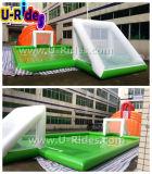 水遊ぶことの空気によって密封される膨脹可能なスポーツのゲームのフットボール裁判所ファブリックサッカー