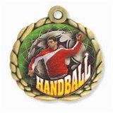 بيع بالجملة صنع وفقا لطلب الزّبون رياضة كرة يد رابح نوع ذهب شارة ميداليّة مكافأة وسام