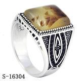 Nieuwe Modellen 925 Zilveren Yemen die de Natuurlijke Ringen van de Mensen van de Steen snijden