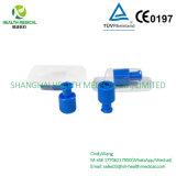 Blauer Combi Stopper/Luer Verschluss, kundenspezifisches Verpacken mit dem Firmenzeichen gedruckt