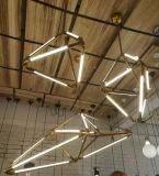 Lámparas colgantes del metal LED del vidrio decorativo moderno de la lámpara pendiente