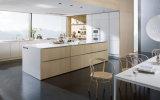 Cabinas de cocina modificadas para requisitos particulares chapa de madera del color ligero para los muebles caseros Blk-23