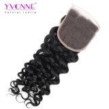 I capelli umani 4X4 del Virgin brasiliano riccio italiano di Yvonne liberano la chiusura del merletto della parte