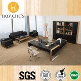 Muebles de oficinas moderno de cuero de madera Escritorio (V30a)