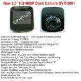 """É barato 2.0"""" Car DVR com HD de 1080p, 5.0Mega Câmara CMOS, Builit em G-sensor, com visão nocturna, Gravador de vídeo digital DVR-2001"""