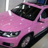 1,52*20m étanche de haute qualité Bulle d'air libre super brillant auto-adhésif autocollant en PVC d'enrubannage de voiture Voiture vinyle d'enrubannage