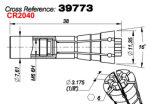 Collet шпинделя M320-64c для PCB делая машину