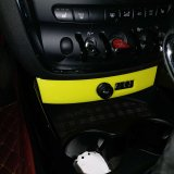 De gloednieuwe ABS Materiële UV Beschermde Gele Dekking van de Stijl USB van de Kleur voor Clubman van Mini Cooper F54 (1PC/Set)