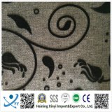 100% polyester et tissu de canapé à motif flocé