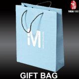 El papel de lujo Compras bolsa de regalo con logo Imprimir para las prendas de vestir
