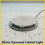 플라스틱에 의하여 중단되는 LED 내각 빛