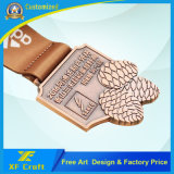 Medaglia di rame antica personalizzata poco costosa del ricordo metallo/del medaglione con il disegno libero