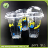copos plásticos descartáveis feitos sob encomenda de 500ml Boba com tampas