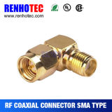 Mâle coaxial à angle droit d'adaptateur de SMA au connecteur femelle de SMA