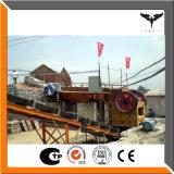 Steinzerkleinerungsmaschine-Zeile umfaßt vibrierende Zufuhr, Kiefer-Zerkleinerungsmaschine, Prallmühle, vibrierender Bildschirm