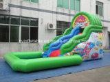 Aufblasbares grünes Wasser-Plättchen mit Pool