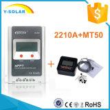 Charge de mètre de MPPT Epever 20A 12V/24V LCD+Remote/contrôleur solaires Tr2210A de débit