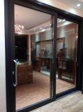 Woodwin hochwertige doppelte ausgeglichenes Glas-Aluminiumschiebetür für Balkon