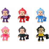 Cartoon mono USB Data USB Flash Drive 128 GB Lindo Mini USB Flash Drive