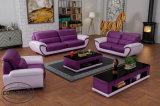 Bois de pin ensemble canapé en cuir LZ1688 pour les meubles de salle de vie