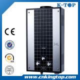 Calentador de agua de gas de cristal de color negro, Hot Sales Gas Geyser