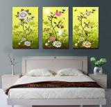 Высокие печати холстины изображения цветка определения для живущий украшения стены комнаты