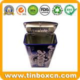 Прямоугольная навесная мяты Тин контейнер, металлической питание, Тин десен