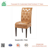 Cubierta de tela al por mayor del marco de madera que cena la silla para el comedor