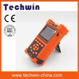 Alta precisión óptica Techwin Handheld OTDR Máquina Tw2100e OTDR de fibra óptica portátil con pantalla táctil Meterwith OTDR