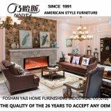Sofá americano do couro genuíno de projeto moderno para a mobília As849 da sala de visitas