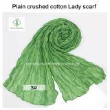 Signora Scarf di modo schiacciata pianura molle calda del cotone di vendita 2017
