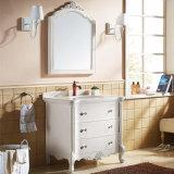 Тщеты шкафа ванной комнаты размера твердой древесины малые и раковины (GSP14-045)