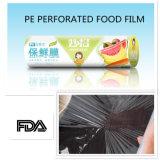 Ältere Kategorie Wegwerf-PET haften Film 30cm durch 35m Or100m die Breiten-Großverkauf-Verpackung für Supermarkt an