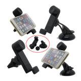 Sucker Air Vent Magnétique Support de voiture 3 en 1 pour téléphone cellulaire Samrt iPhone 6s 7 Plus Samsung Note 5 S7 Edge