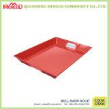 Red Color with Cracker Design Plateau en mélamine