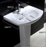 Het grote Bassin van de Was van het Voetstuk van de Goede Kwaliteit van de Grootte Hoogste Ceramische voor Toilet