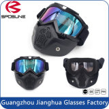 Óculos de proteção cheios personalizados da máscara protetora dos óculos de proteção dos esportes ao ar livre com protetor de boca destacável do nariz