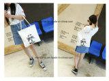 Madame occasionnelle personnalisée Handbags de configuration de dessin animé de toile de plaine de mode