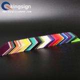 Feuille acrylique matérielle d'étalage coloré