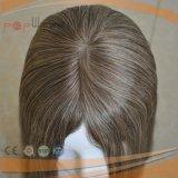 Peluca superior de seda vendedora superior de las mujeres del pelo de Remy del grado del color puro del 100% (PPG-l-0871)