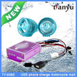 Waterproof Motorcycle USB MP3 Player Sistema de alarme de carga elétrica