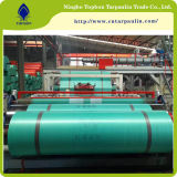 PE vert Material&amp de la bâche de protection 160GSM ;